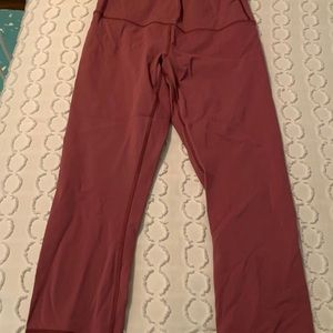 Lulu lemon pink cropped leggings